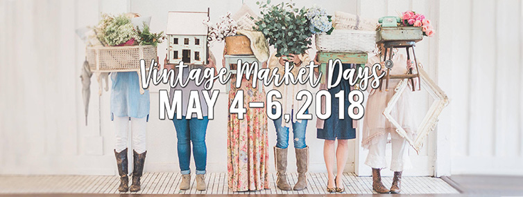 Vintage market May 4th - 6th 2018